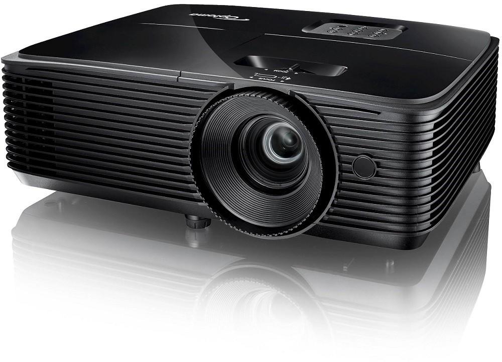 Projektor, Optoma S334e, DLP, SVGA felbontás, 4:3 képarány, Hordozható