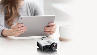 Projektor, Optoma ML1050ST+, DLP, WXGA (1280x800) felbontás, 16:10 képarány, Hordozható