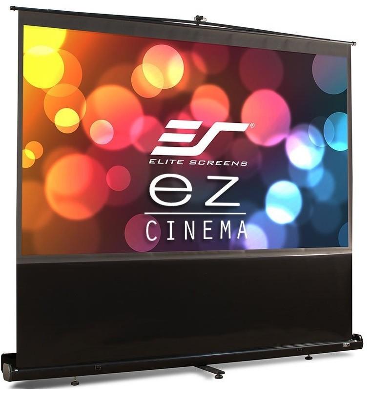 Vászon, EliteScreen ezCinema, 222 x 125 cm vászonméret, 16:9 képarány, Hordozható, Házimozis, Állványos