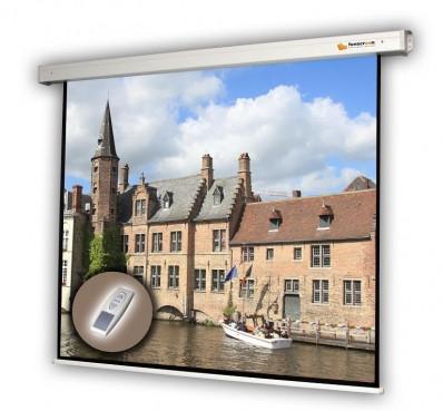 Vászon, FunScreen Motor Screen, 180 x 180 cm vászonméret, 1:1 képarány, Motoros